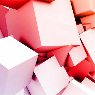 Cubes Square Background in 3d as a Abstract Cutout