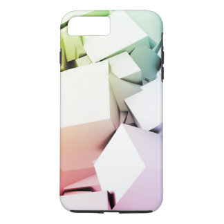 Cubes Square Background in 3d as a Abstract iPhone 8 Plus/7 Plus Case