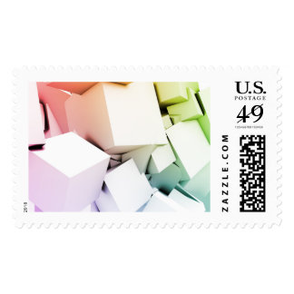 Cubes Square Background in 3d as a Abstract Postage