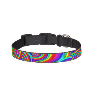 Cubic Rainbow Fractal Dog Collar
