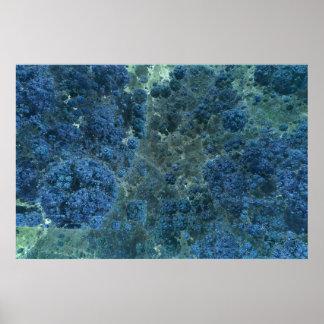 Cubic Sea Fractal Poster