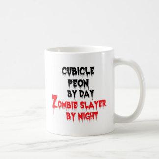 Cubicle Peon by Day Zombie Slayer by Night Coffee Mug