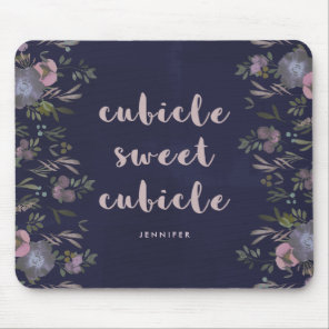 Cubicle Sweet Cubicle   Smoky Florals Mouse Pad