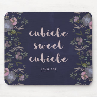 Cubicle Sweet Cubicle | Smoky Florals Mouse Pad