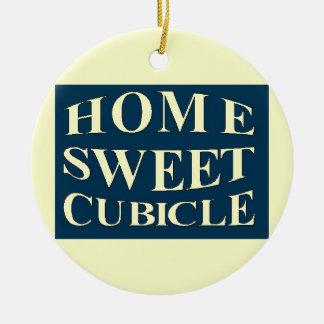 Cubículo dulce casero adornos de navidad