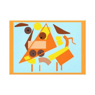 Cubie los posters del arte del cubismo del perro y impresiones en lona estiradas