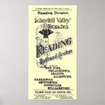 Cubierta 1894 del calendario del sistema del ferro posters