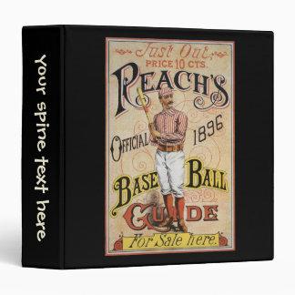 Cubierta 1896 de la guía del béisbol del alcance d
