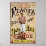 Cubierta 1896 de la guía del béisbol del alcance d posters