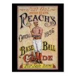 Cubierta 1896 de la guía del béisbol del alcance d tarjeta postal