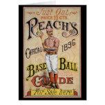 Cubierta 1896 de la guía del béisbol del alcance felicitacion