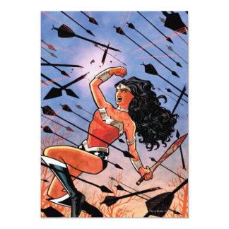 Cubierta #1 de la Mujer Maravilla Invitación 12,7 X 17,8 Cm