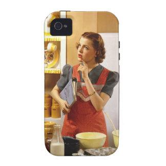 Cubierta #1 del iPhone del ama de casa del vintage Case-Mate iPhone 4 Funda