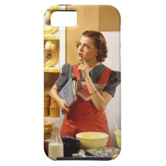 Cubierta #1 del iPhone del ama de casa del vintage iPhone 5 Case-Mate Cárcasa