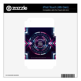 Cubierta 2016 del álbum del fiesta Merch Skins Para iPod Touch 4G
