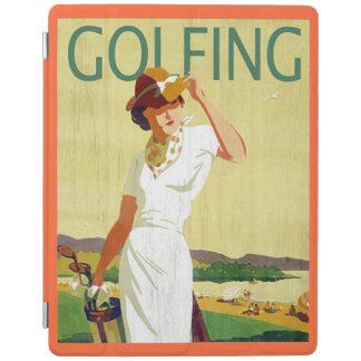 Cubierta 2/3/4 del iPad de señora Golfer Golfing Cover De iPad