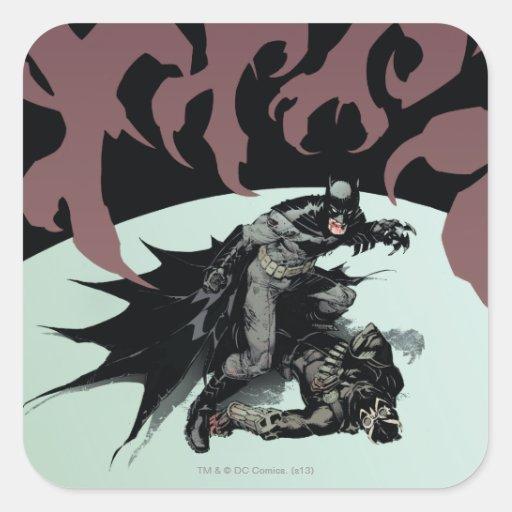Cubierta #7 de Batman vol. 2 Calcomanía Cuadrada Personalizada