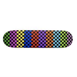 Cubierta a cuadros colorida patinetas personalizadas