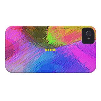 Cubierta a todo color del iPhone 4 de Cleo iPhone 4 Case-Mate Cobertura
