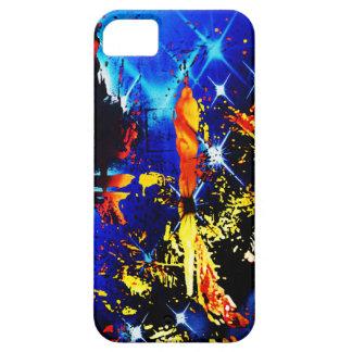 Cubierta abstracta artsy azul del iPhone 5 del iPhone 5 Carcasa