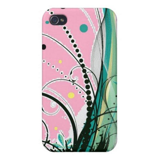 cubierta abstracta del iphone iPhone 4 protectores