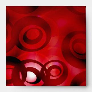 Cubierta abstracta del rojo de Luner del sobre