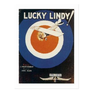Cubierta afortunada del cancionero del vintage de  tarjeta postal