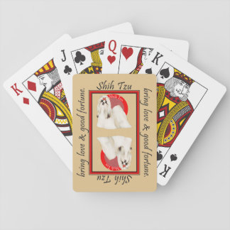 Cubierta afortunada del póker de Shih Tzu Baraja De Cartas
