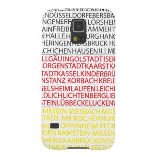 Cubierta alemana del teléfono de la bandera de las funda de galaxy s5