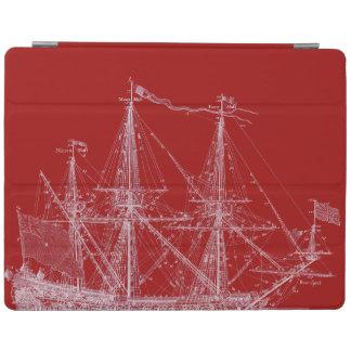Cubierta alta roja y blanca del iPad de la Cover De iPad