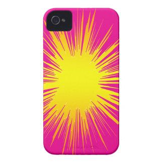 Cubierta amarilla de Splat IPHONE iPhone 4 Case-Mate Coberturas