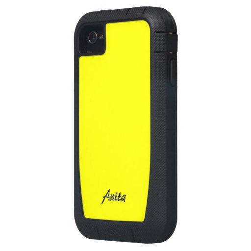 Cubierta amarilla del iphone 4 de Anita