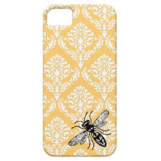 Cubierta amarilla del iPhone del avispón de la abe iPhone 5 Protectores