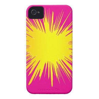 Cubierta amarilla del teléfono de Splat Case-Mate iPhone 4 Cárcasas