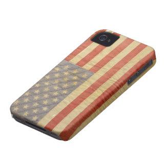 cubierta americana de la caja de la bandera de la Case-Mate iPhone 4 funda