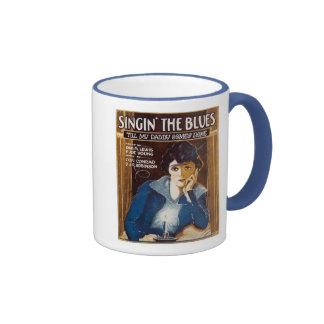 Cubierta americana de la hoja de música de los azu tazas de café