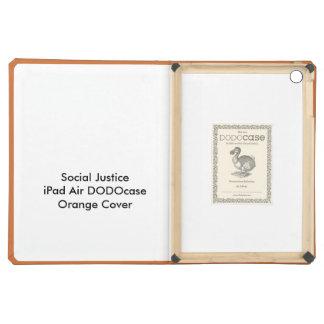 Cubierta anaranjada de DODOcase del aire del iPad