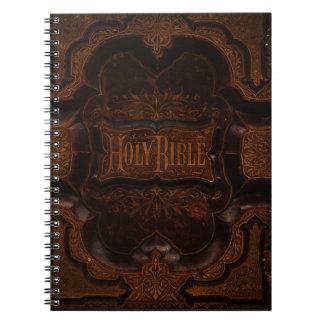 Cubierta antigua de la biblia cuadernos