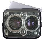 Cubierta antigua de la caja de la cámara del vinta funda computadora