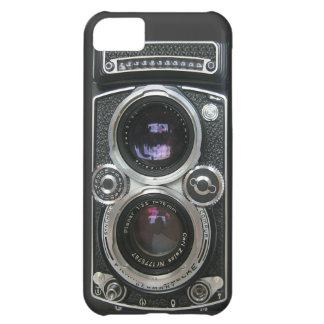 Cubierta antigua de la caja de la cámara del vinta funda para iPhone 5C