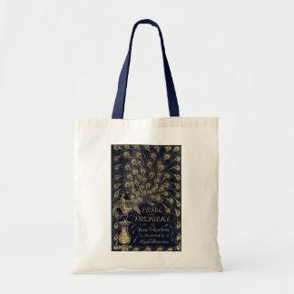 Cubierta antigua de la edición del pavo real del o bolsa tela barata