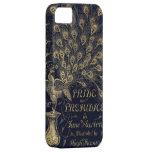 Cubierta antigua de la edición del pavo real del o iPhone 5 Case-Mate cárcasas