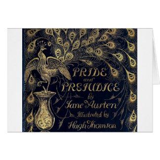 Cubierta antigua de la edición del pavo real del o tarjeta de felicitación