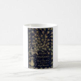 Cubierta antigua de la edición del pavo real del o taza básica blanca