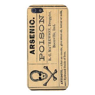 Cubierta arsénica de la etiqueta iphone5 del vinta iPhone 5 carcasa
