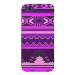 Cubierta azteca rosada y púrpura del iPhone del mo iPhone 5 Carcasa