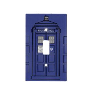 Cubierta azul de Lightswitch de la caja de llamada
