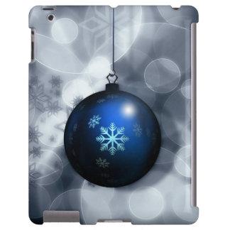 Cubierta azul del iPad de la decoración del navida Funda Para iPad