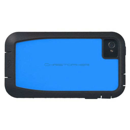 Cubierta azul del iphone 4 de Christopher Funda Para iPhone 4