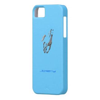 Cubierta azul del iPhone 5 de Jeremy iPhone 5 Fundas